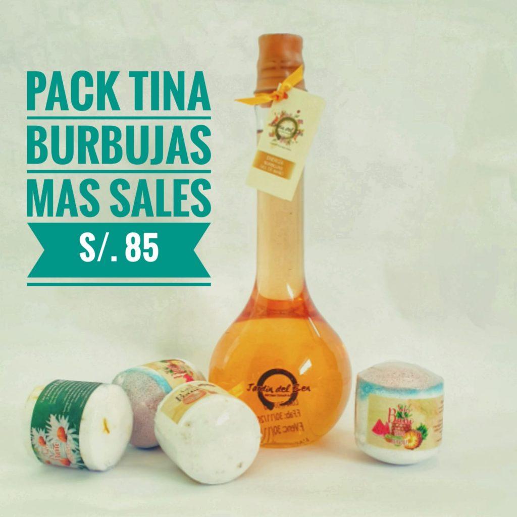 pack tina: burbujas y sales